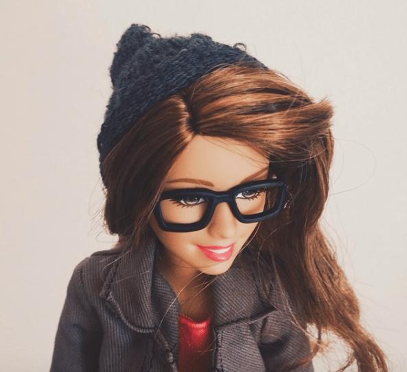 barbie hipster en instagram