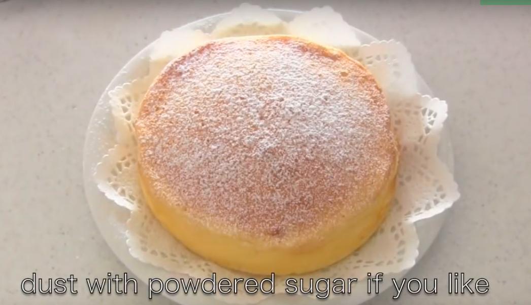 pastel japonés con solo 3 ingredientes