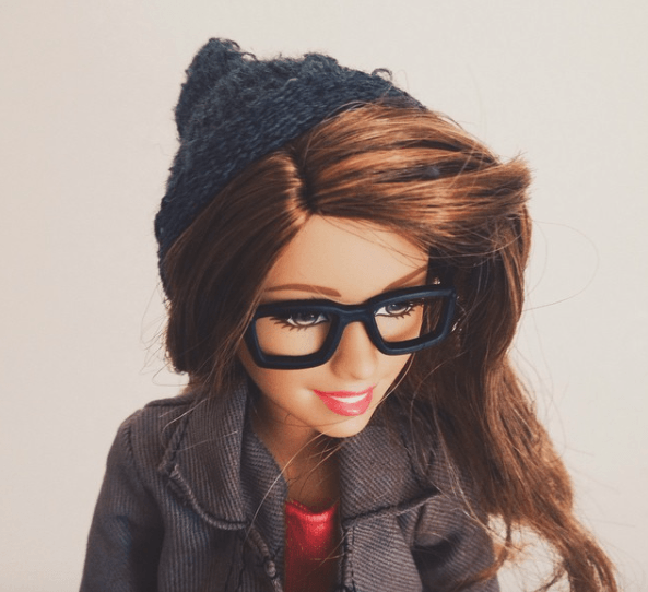 barbie hipster en instagram