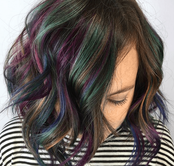 Oil Slick Hair o cabello de arcoíris