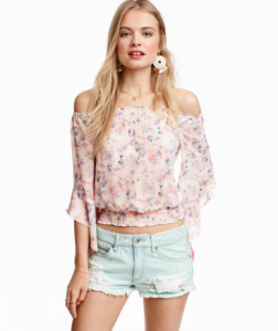 blusa off shoulders