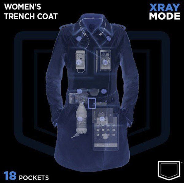 este abrigo con 18 bolsillos