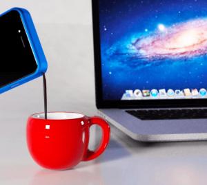 funda para smartphone que te prepara el café