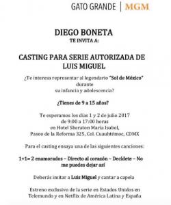 Diego Boneta invita a casting para serie de Luis Miguel