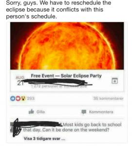 Mujer pide que se cambie de hora el eclipse solar