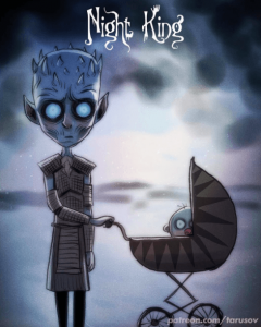 Los personajes de Game of Thrones dibujados por Tim Burton