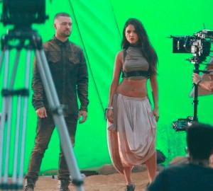 Eiza González y Justin Timberlake graban video