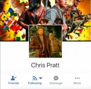 Chris Pratt advierte sobre un impostor