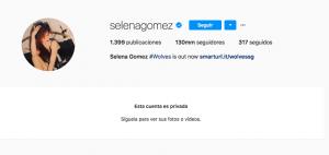 Selena Gómez hizo privada su cuenta de Instagram