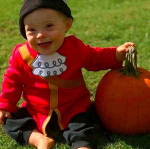 bebé Gerber con síndrome de Down