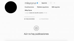 Miley Cyrus borró todas sus fotos de Instagram