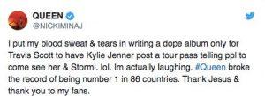 Nicki Minaj critica a Kylie Jenner