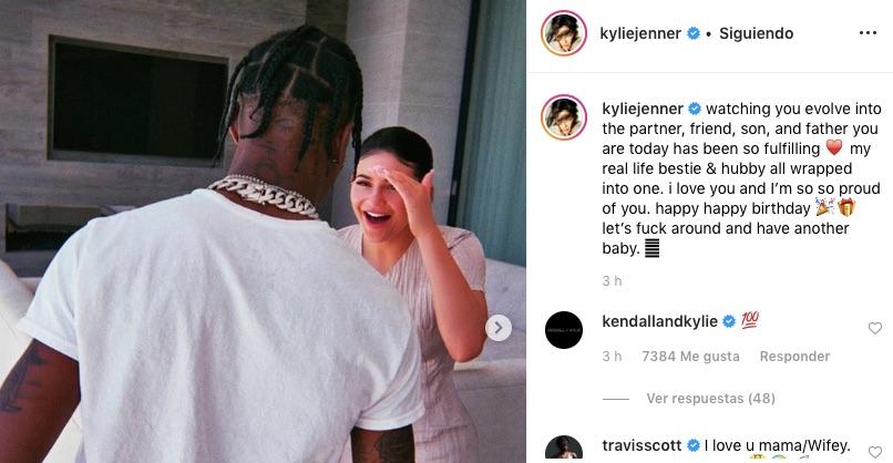 mensaje de Kylie Jenner a Travis Scott