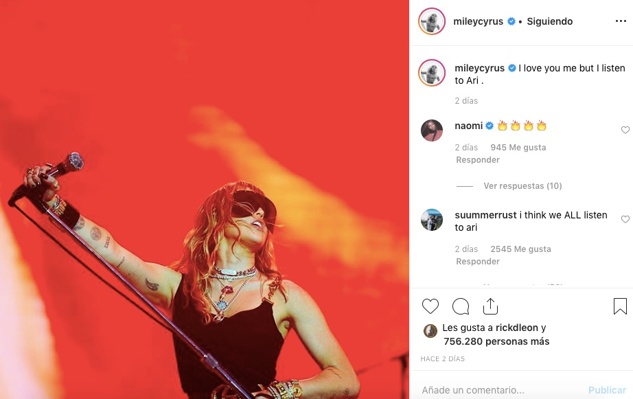 Miley Cyrus habló mal de Selena Gómez
